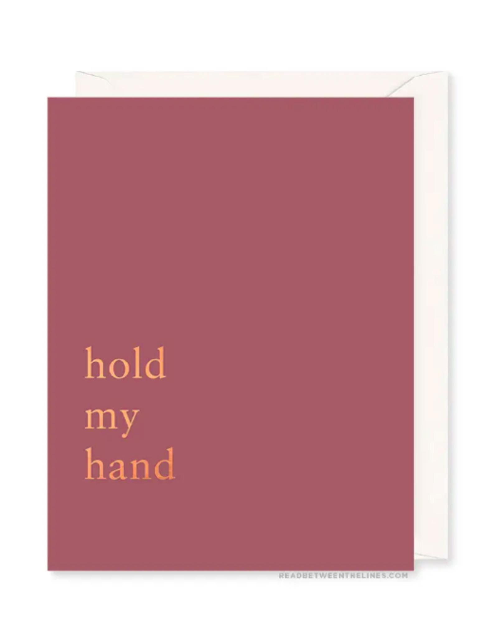 Hold My Hand Card