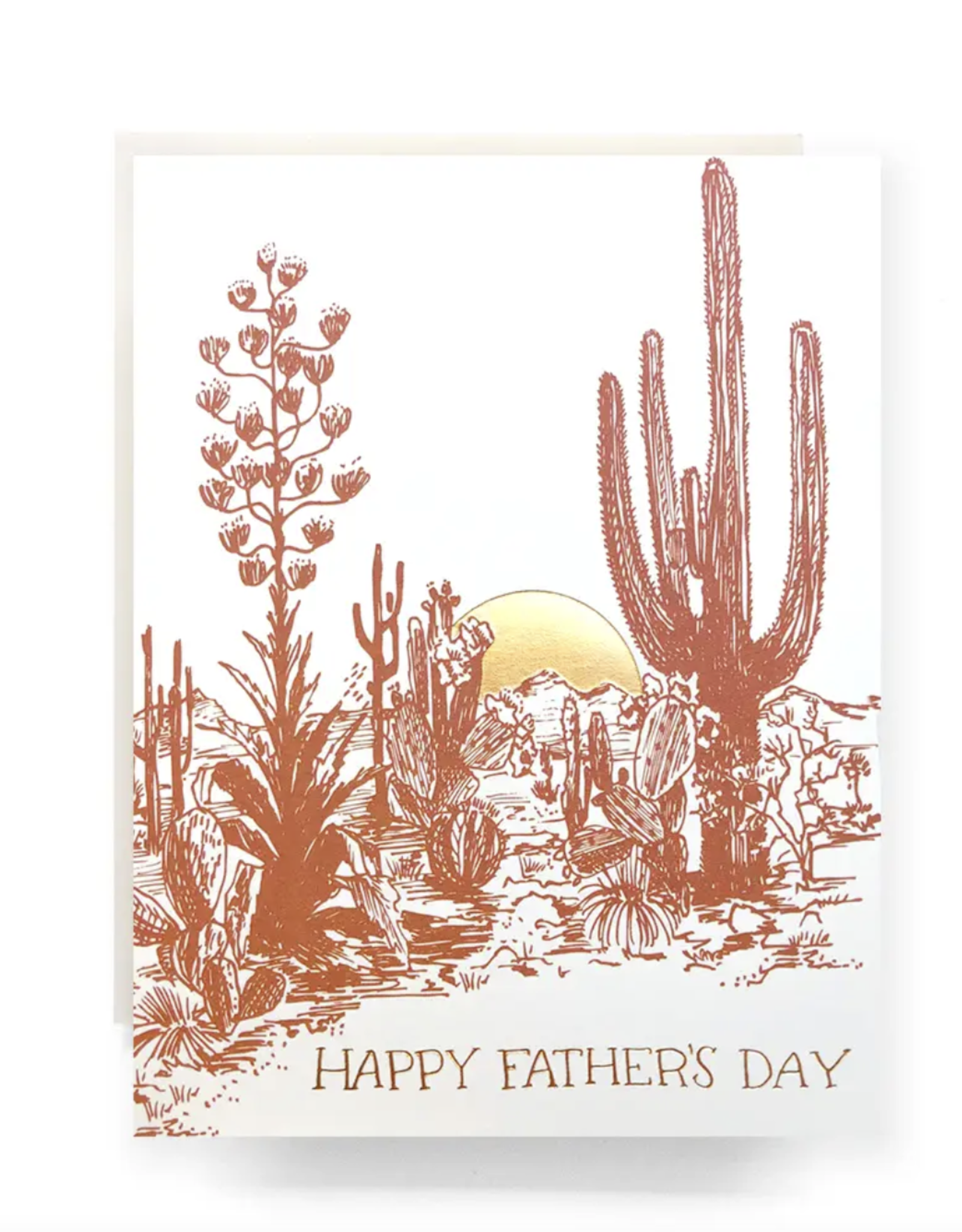 Cactus Sunset Father's Day Card