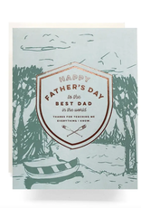 Crest Canoe Father's Day Card