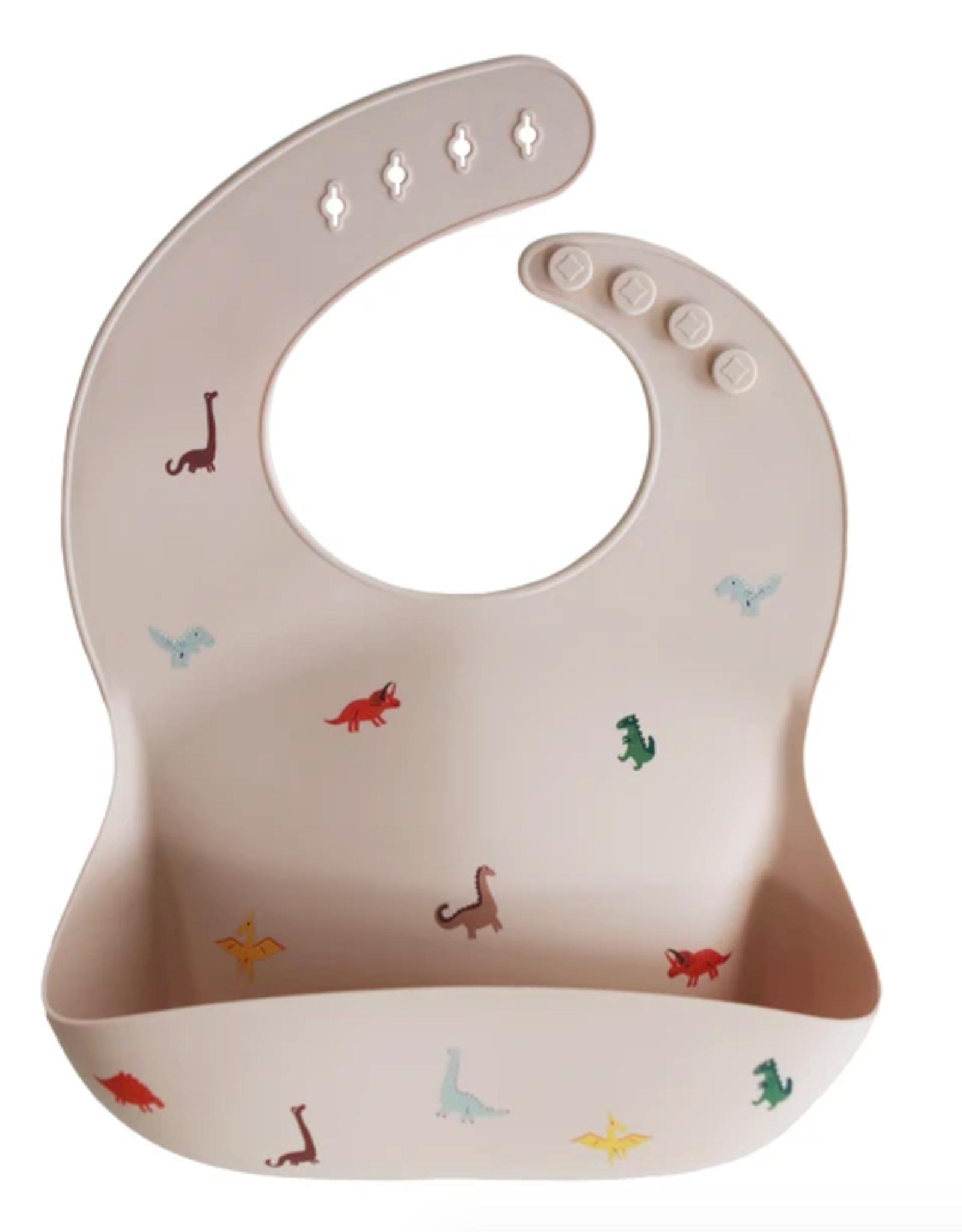 Silicone Baby Bib - Dinosaurs