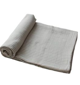 Sage Stripe Organic Cotton Muslin Swaddle