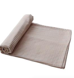 Natural Stripe Organic Cotton Muslin Swaddle