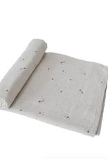 Falling Stars Organic Cotton Muslin Swaddle