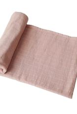 Blush Organic Cotton Muslin Swaddle