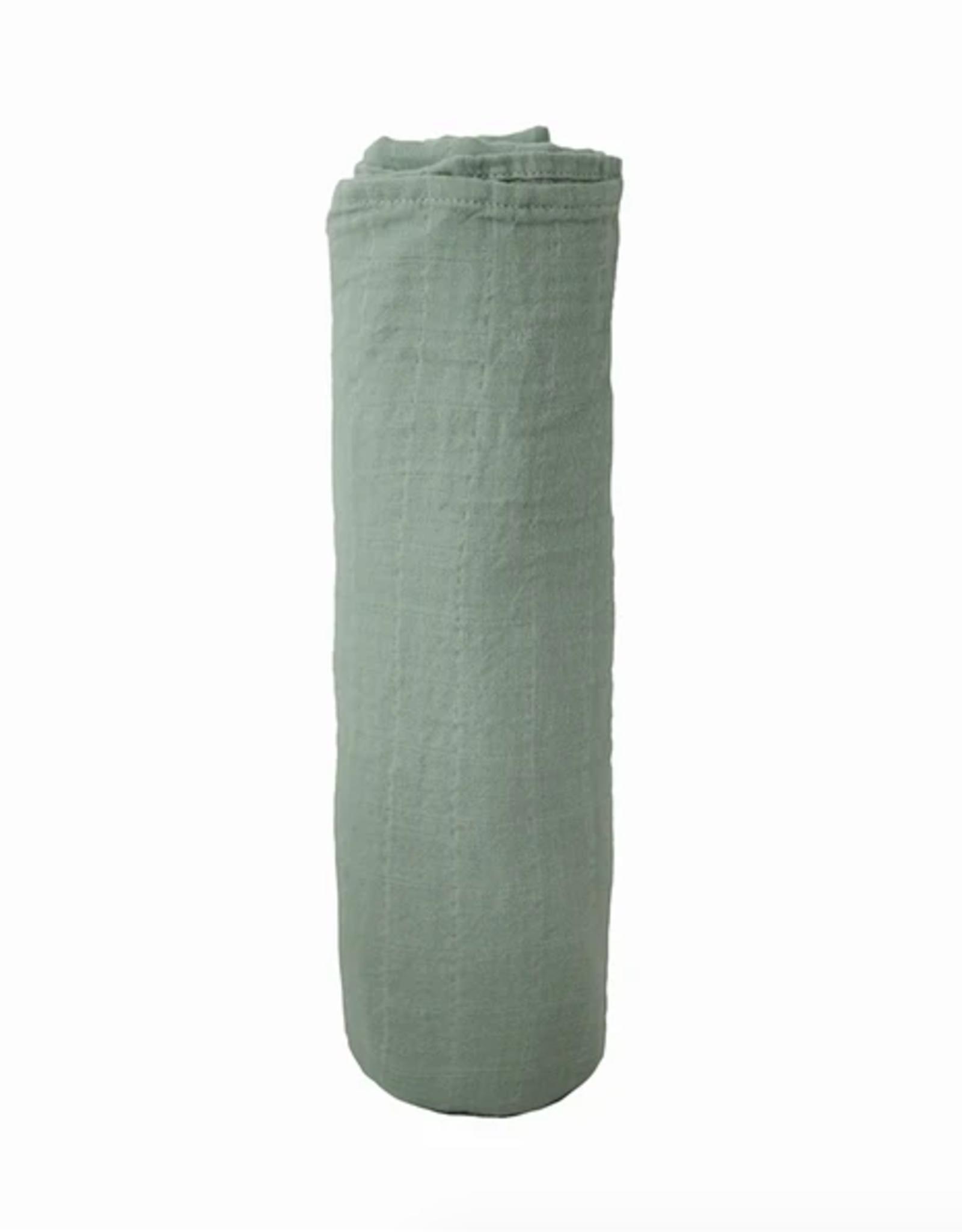 Sage Organic Cotton Muslin Swaddle