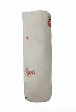 Flowers Organic Cotton Muslin Swaddle