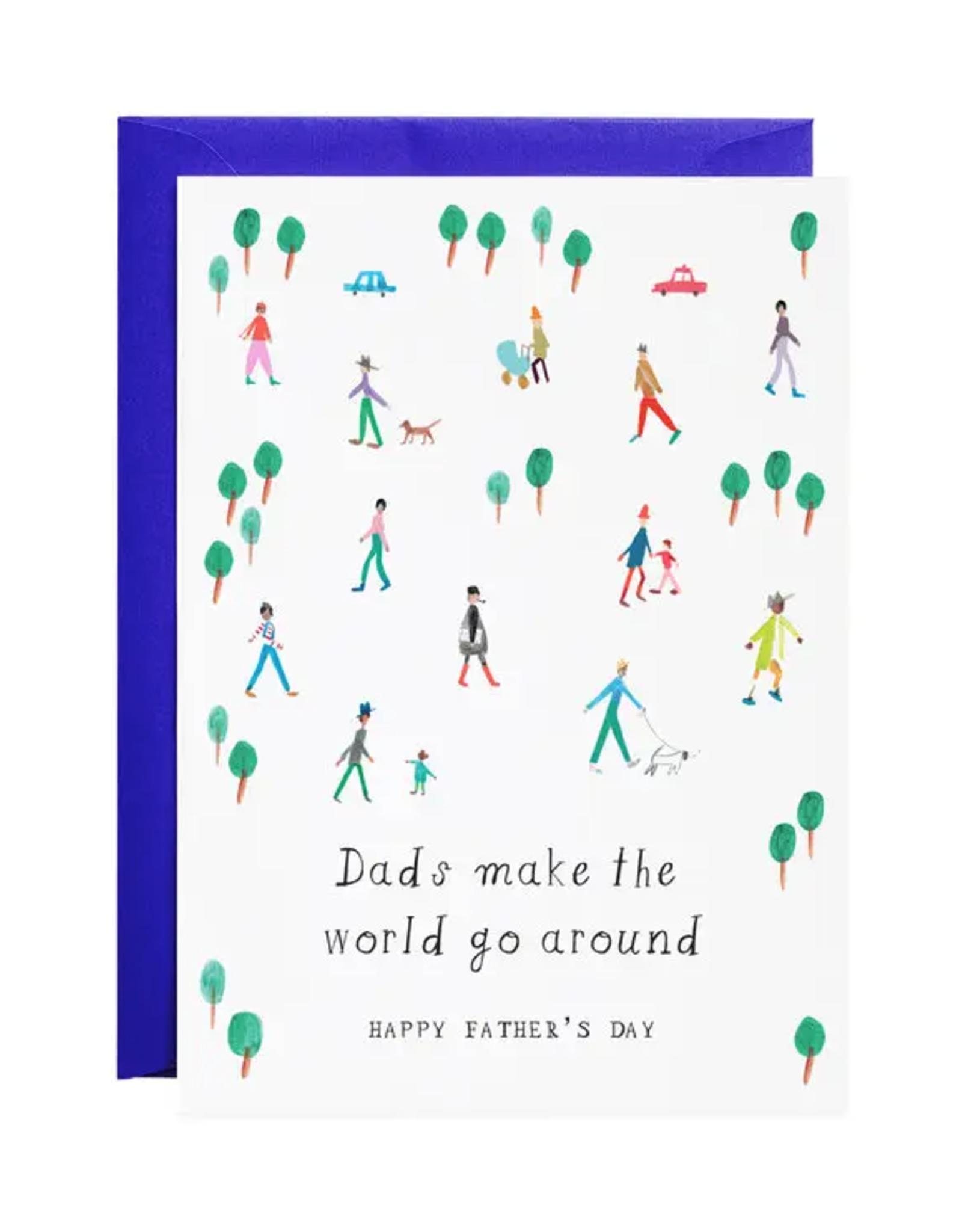 Dads Make the World Go Around Card