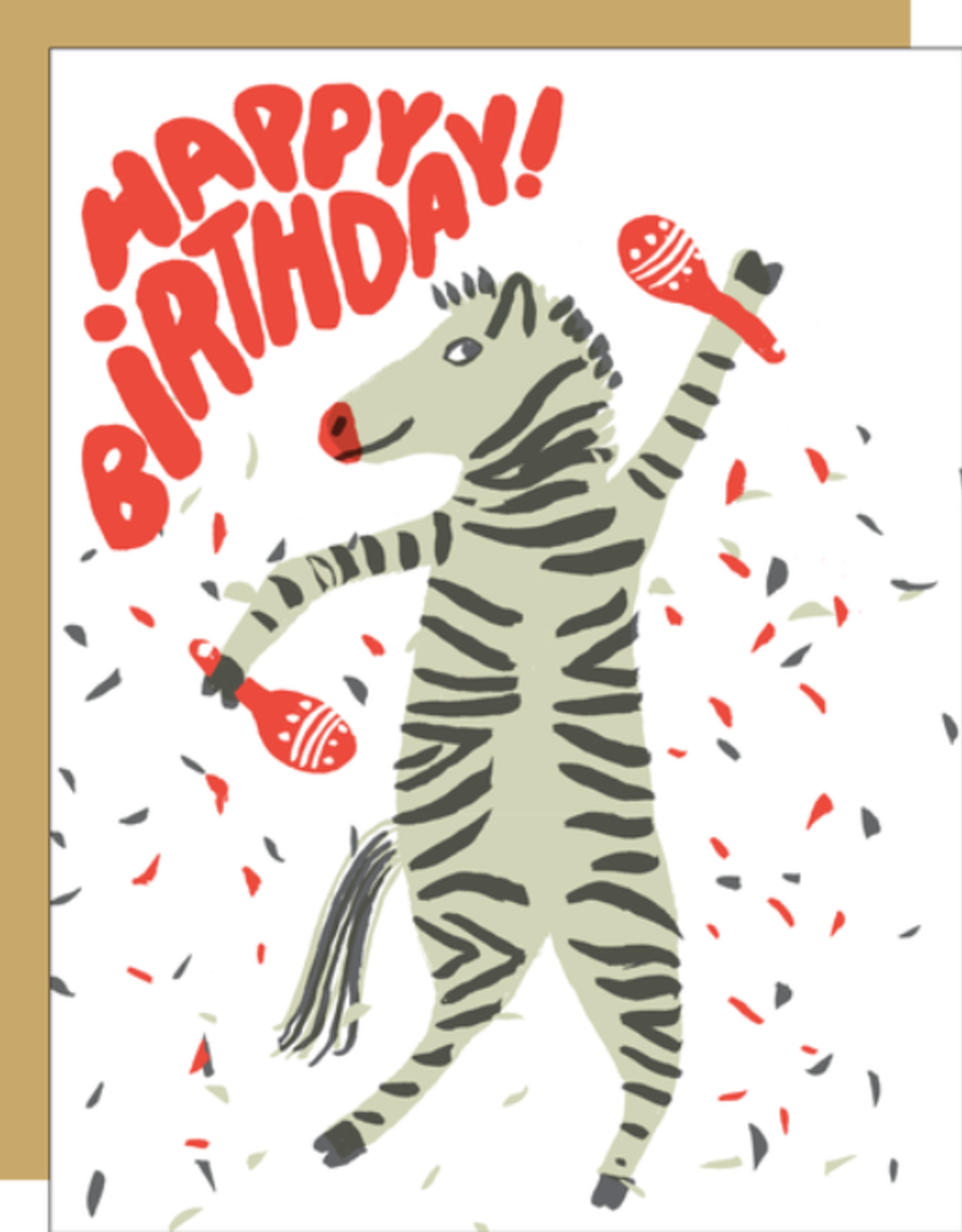 Party Zebra Card