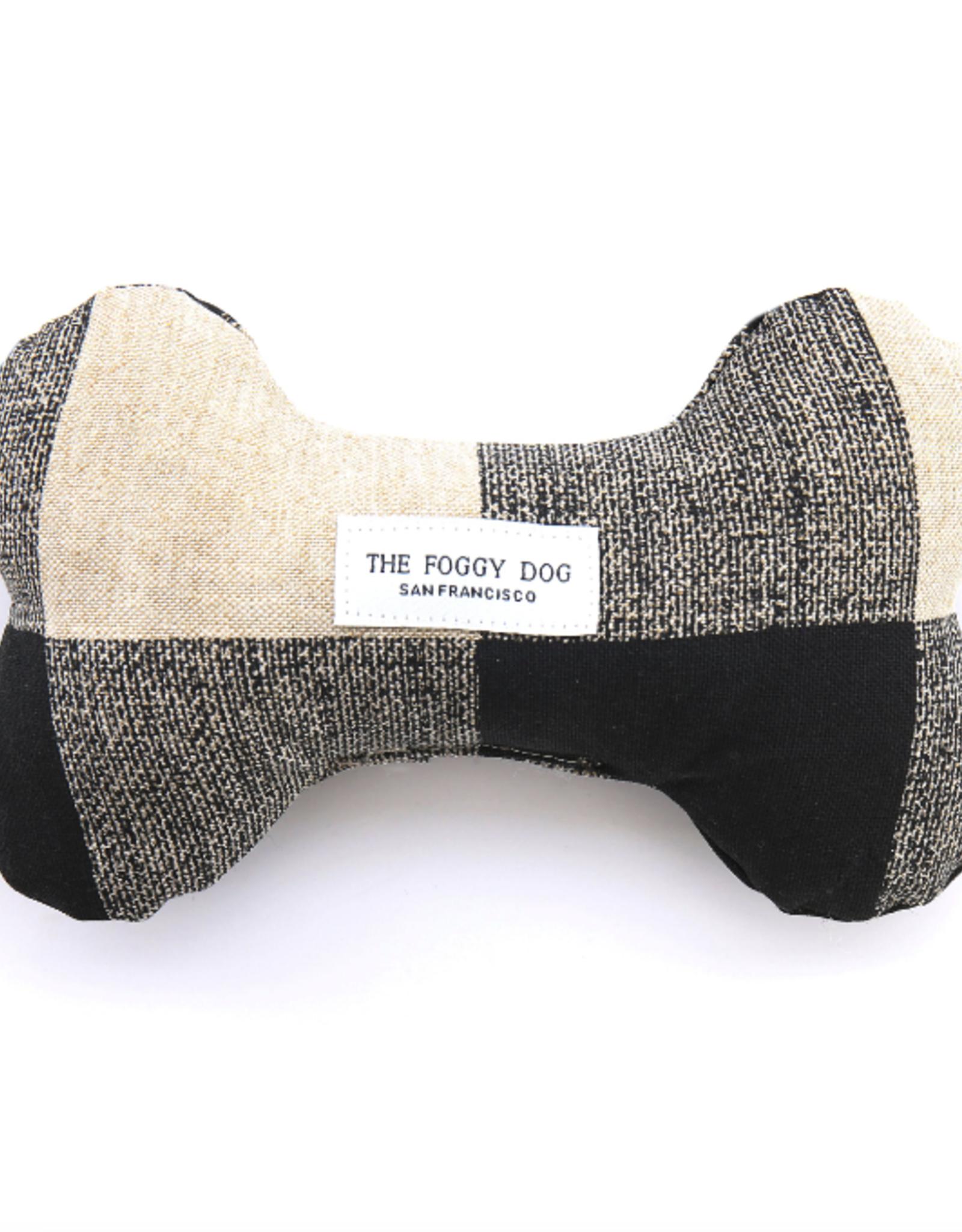 Buffalo Check Dog Bone Squeaky Toy
