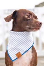 Dusty Blue Stripe Dog Bandana