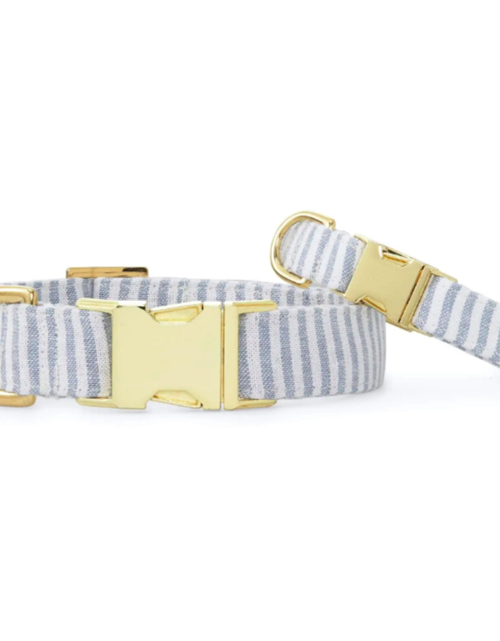 Dusty Blue Stripe Dog Collar