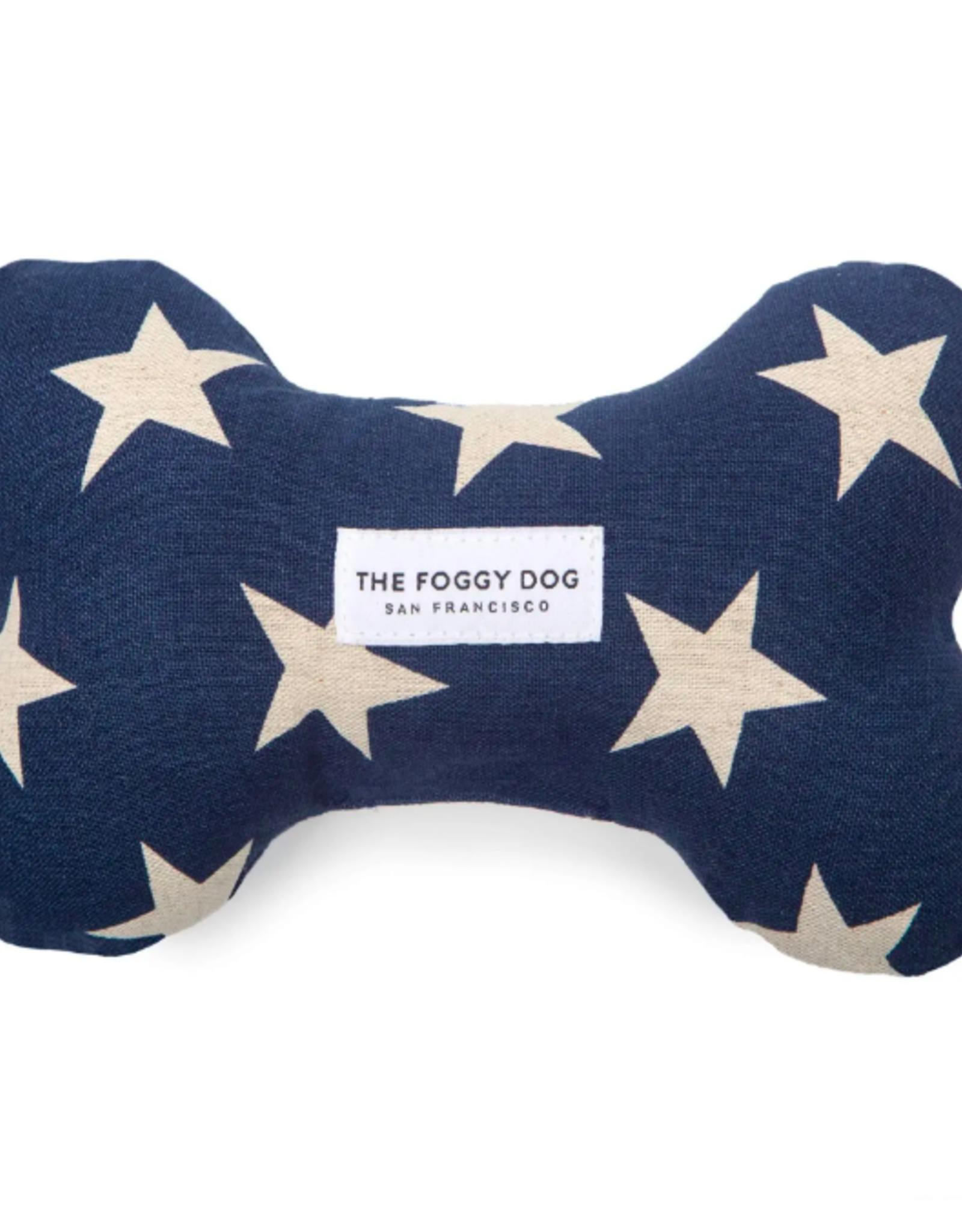 Navy Stars Dog Squeaky Toy