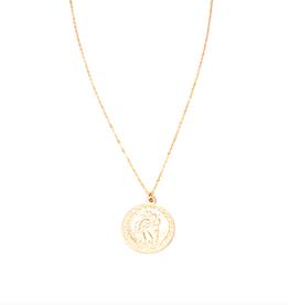 Saint Christopher Coin Necklace