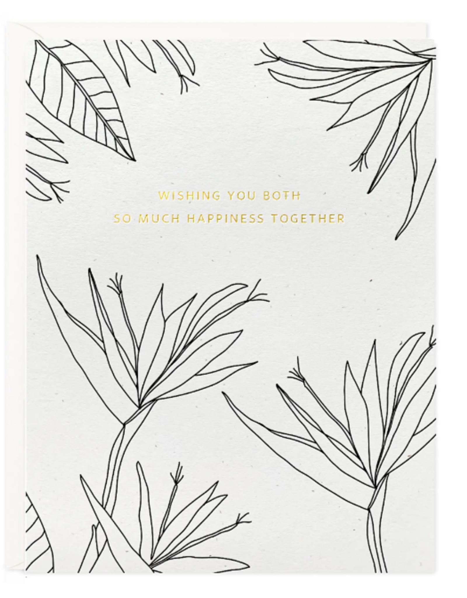 Happiness Wedding Botanical Card