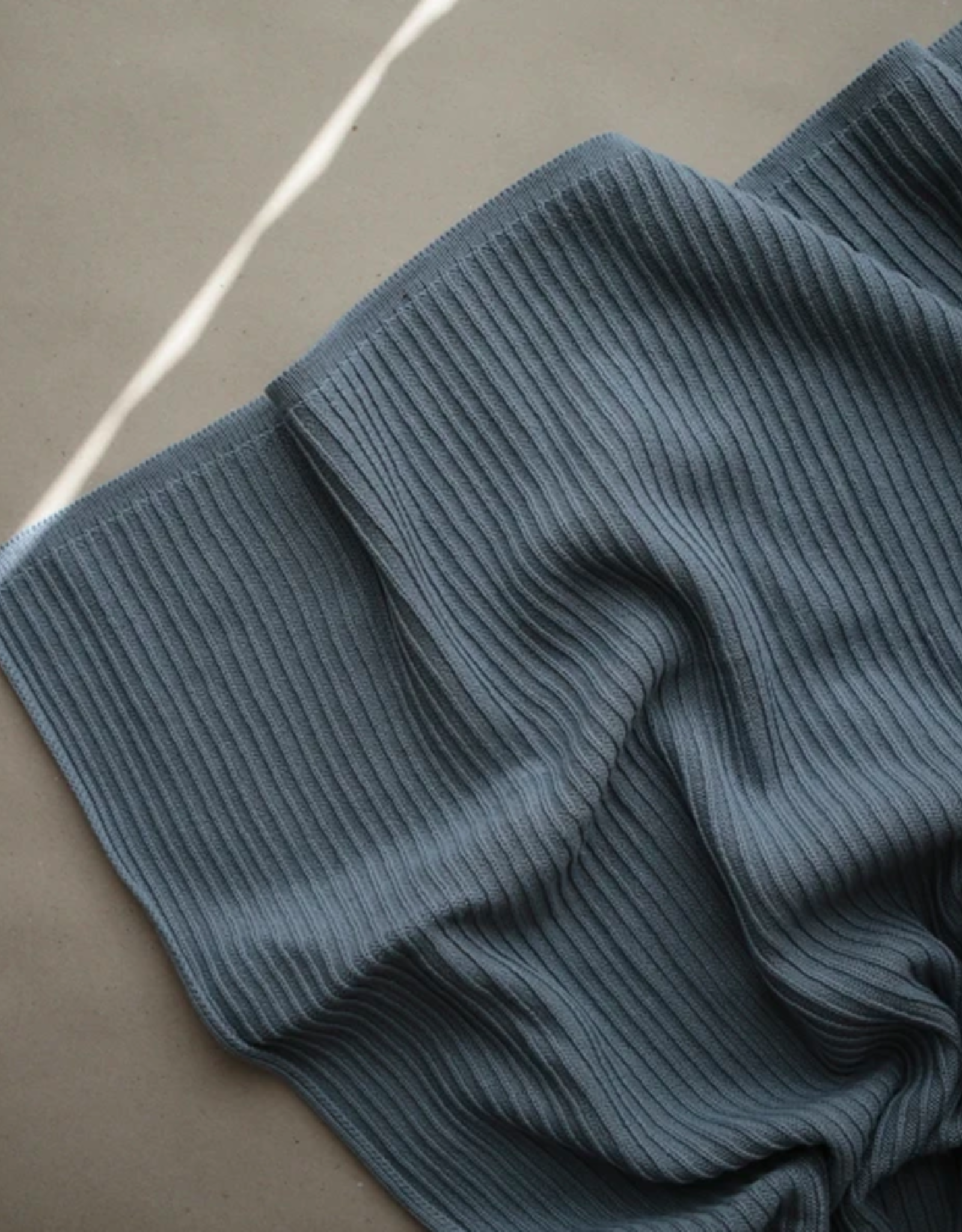 Knitted Ribbed Baby Blanket