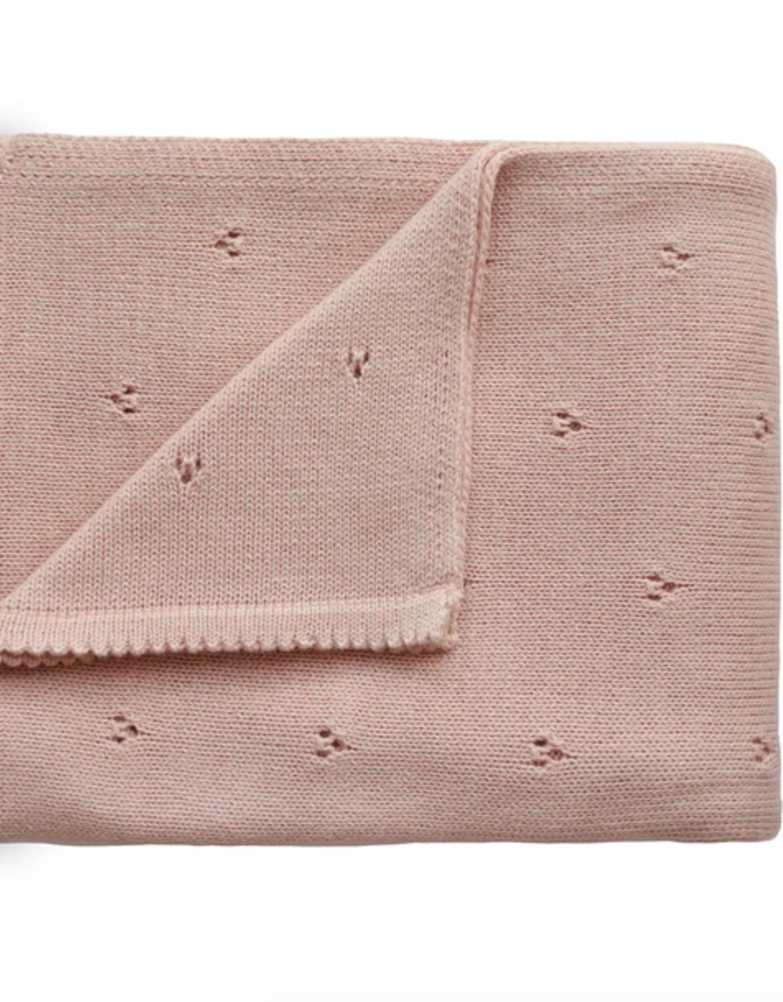 Knitted Pointelle Baby Blanket