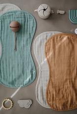 Muslin Burp Cloth - Roman Green + Fog