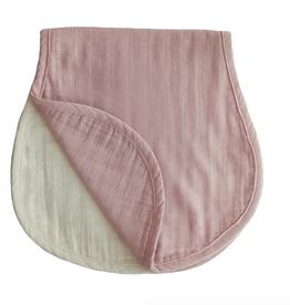 Muslin Burp Cloth - Blush + Fog