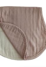 Muslin Burp Cloth - Natural + Fog