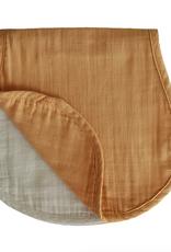 Muslin Burp Cloth - Yellow + Fog
