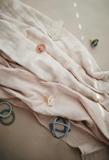 Caramel Polka Dots Muslin Swaddle Blanket Organic Cotton