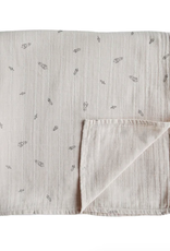 Rocket Ship Muslin Swaddle Blanket Organic Cotton