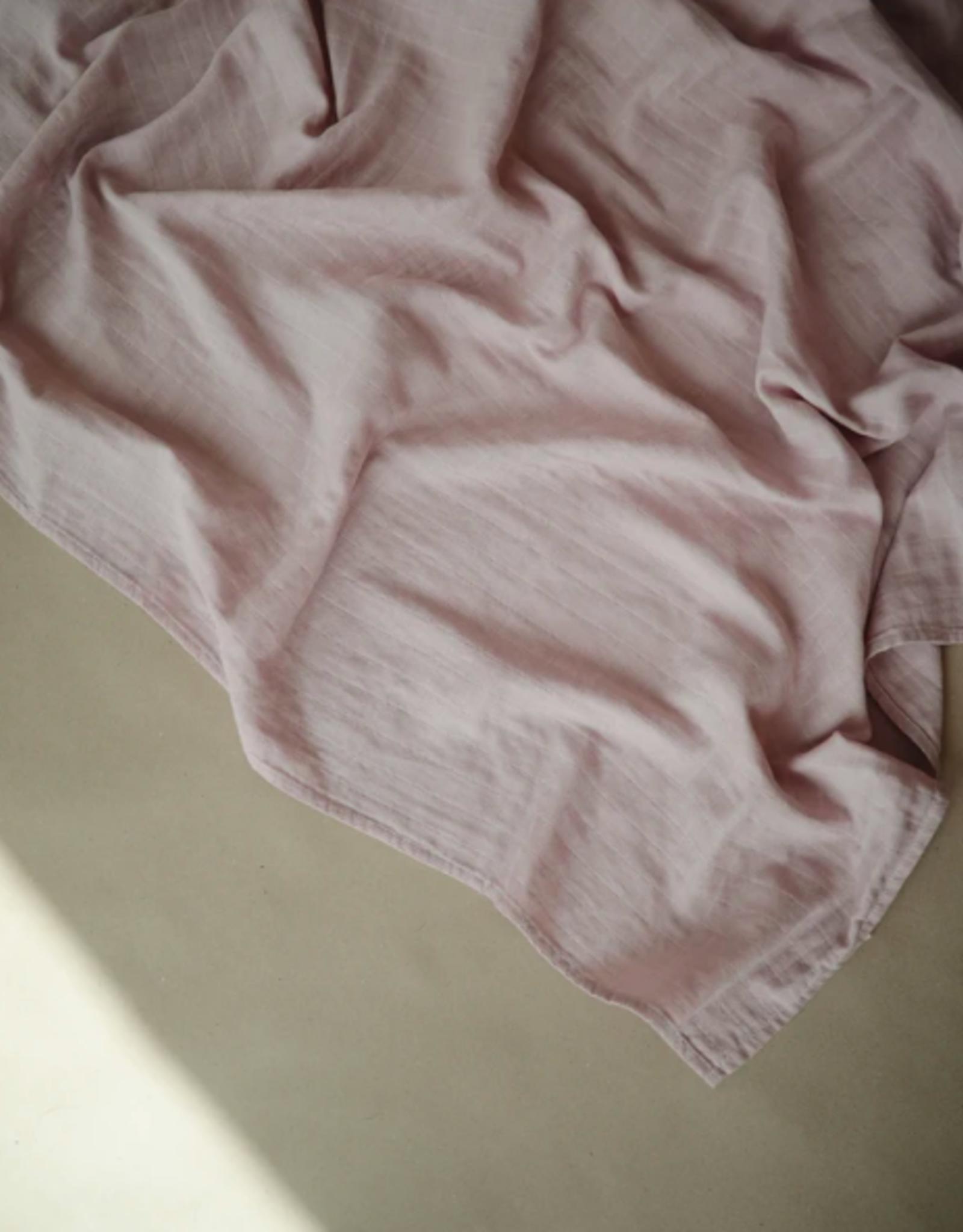 Rose Vanilla Muslin Swaddle Blanket Organic Cotton