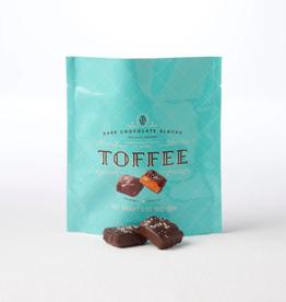 Dark Chocolate Almond Sea Salt Toffee Squares - 3 oz.
