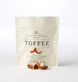 Belgian White Chocolate Pecan Toffee Squares - 3 oz.