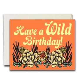 HBD Wild Succulents Card