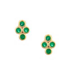 Wren Stud Earrings - Emerald