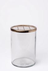 Glass + Brass Vase - Medium