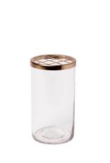 Glass + Brass Vase - Small