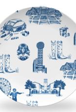 Dallas Toile Plate