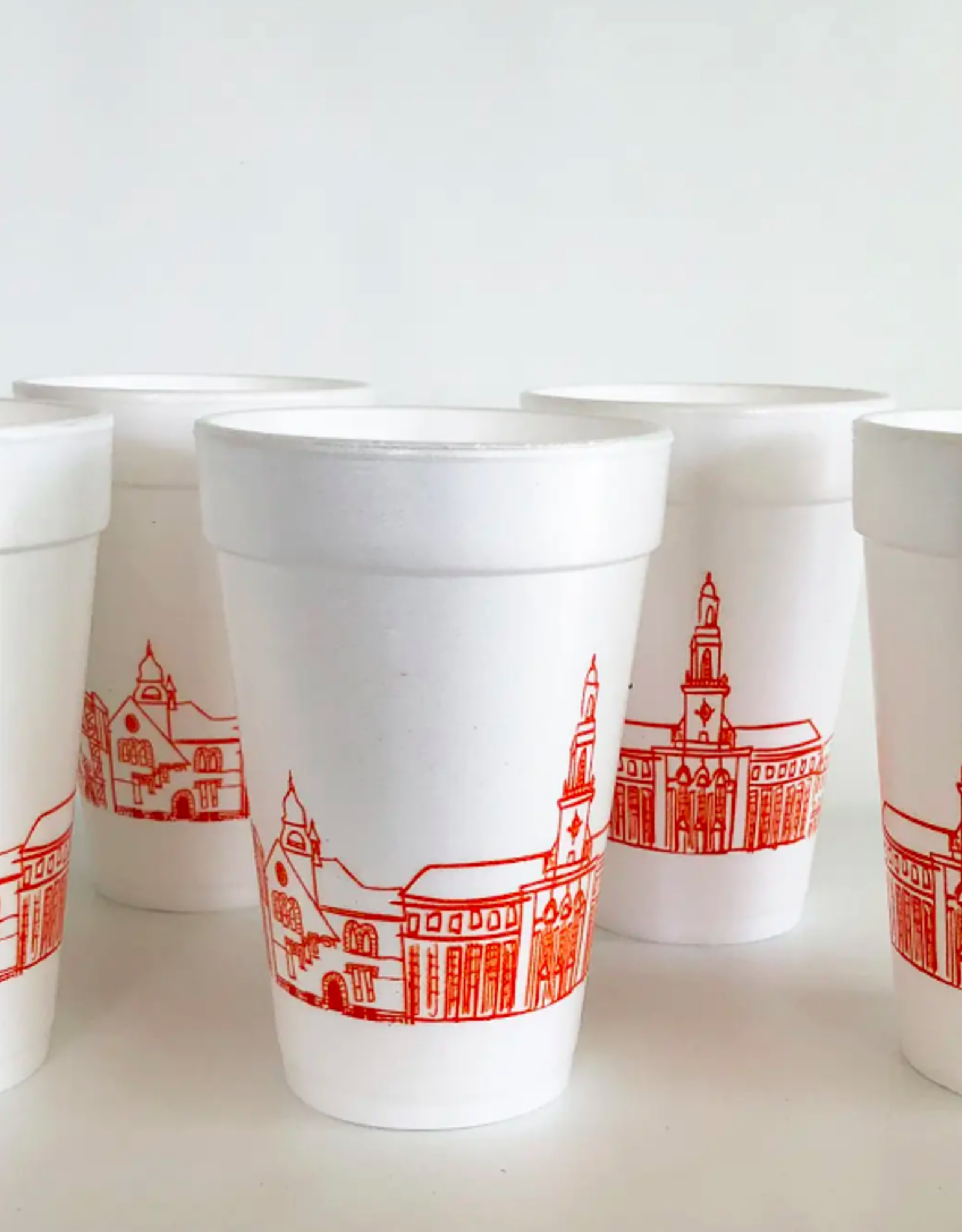 Oklahoma State University Skyline Foam Cups