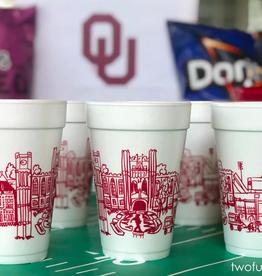 University of Oklahoma Skyline Foam Cups
