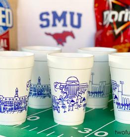 Southern Methodist University Skyline Foam Cups