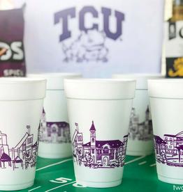 Texas Christian University Skyline Foam Cups