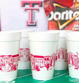 Texas Tech University Skyline Foam Cups
