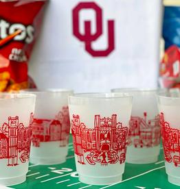University of Oklahoma Skyline Shatterproof Cups