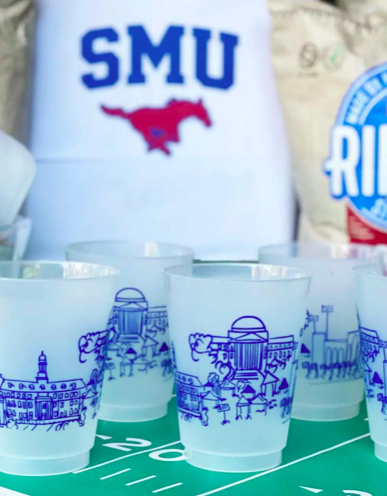 Southern Methodist University Skyline Shatterproof Cups