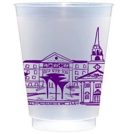 Texas Christian University Skyline Shatterproof Cups