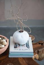 White Terra Cotta Organic Vase
