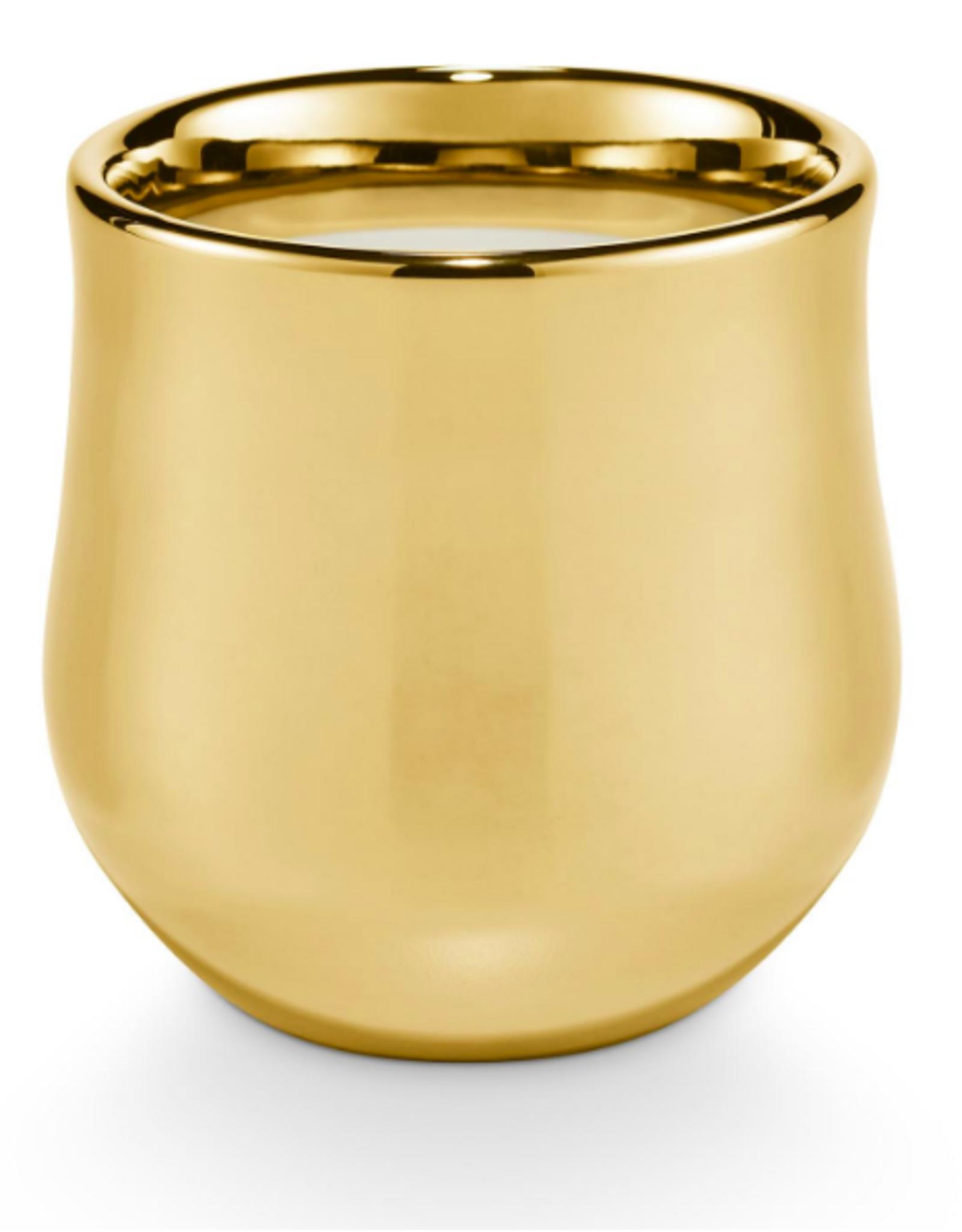 Rustic Pumpkin Gilded Ceramic Candle