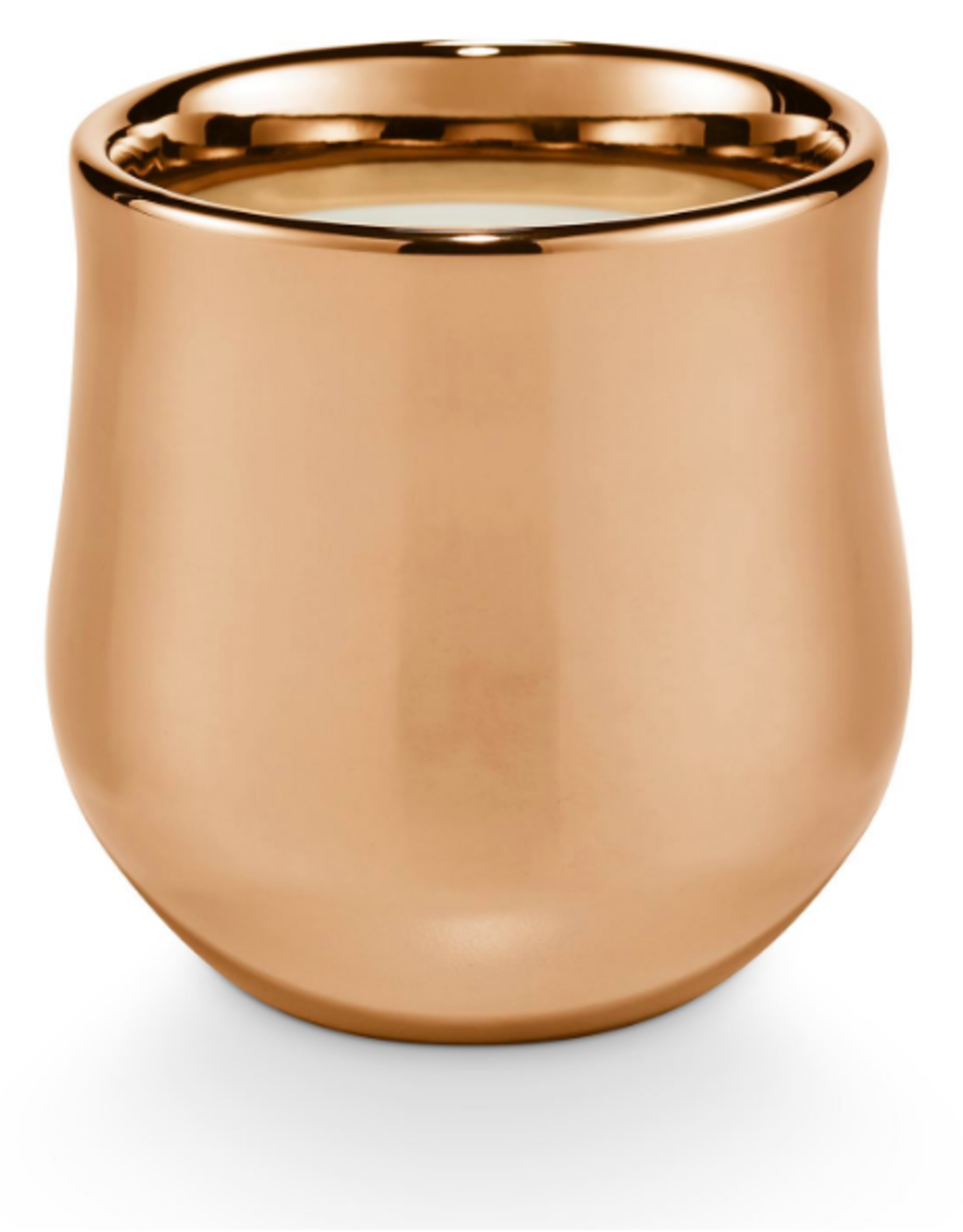 Copper Leaves Gilded Ceramic Candle