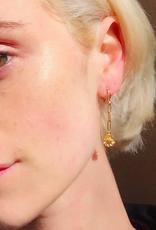 Fleur Chain Hoop Earrings