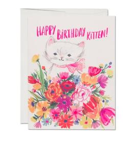 Happy Birthday Kitten Card