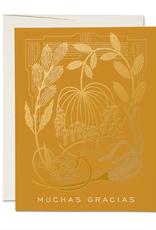 Mustard Muchas Gracias Card