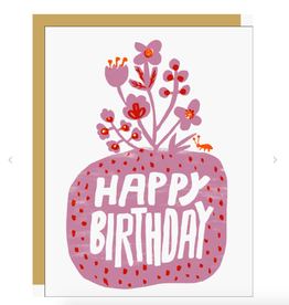 Roots Floral Birthday Card