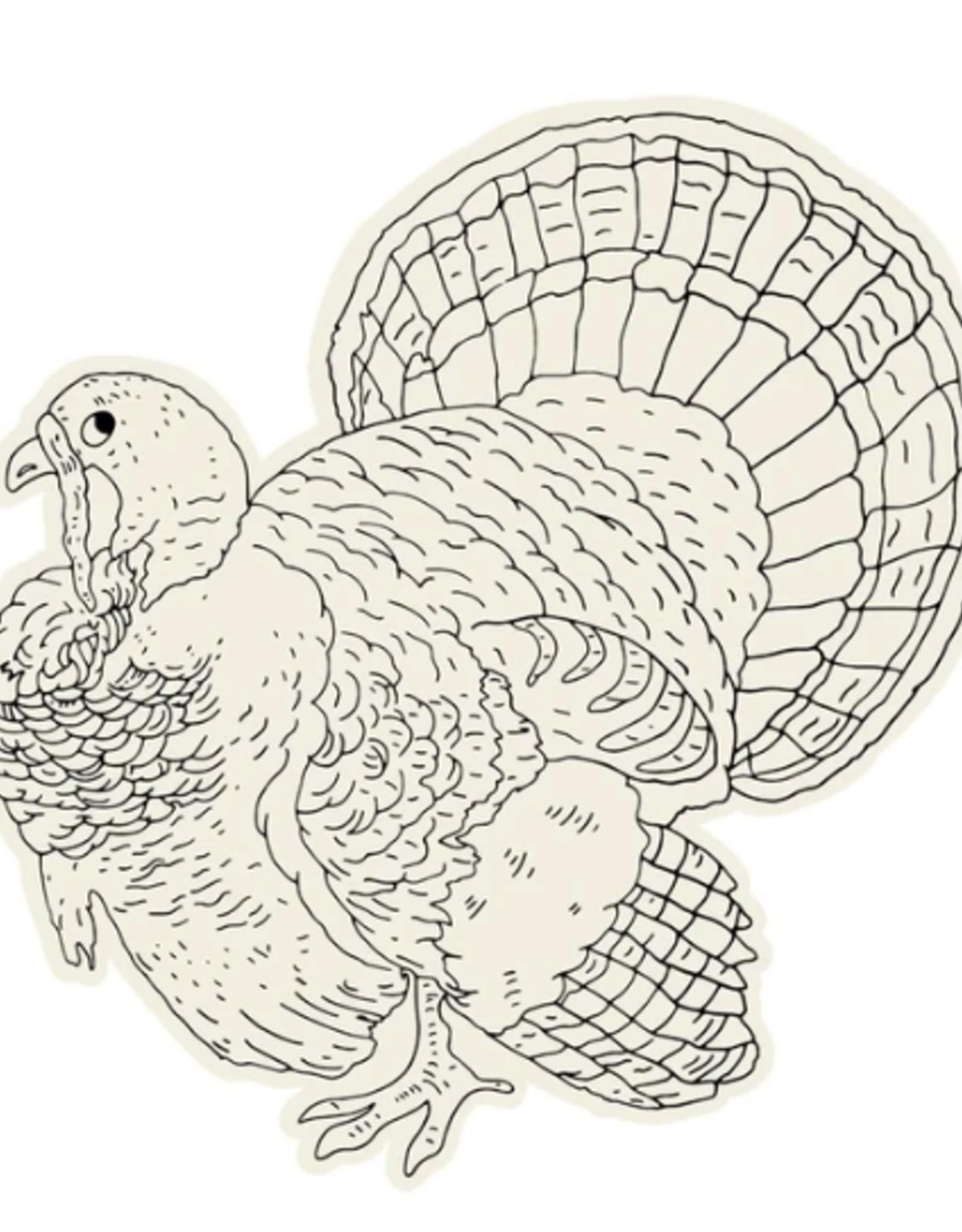 Die-Cut Coloring Turkey Placemat